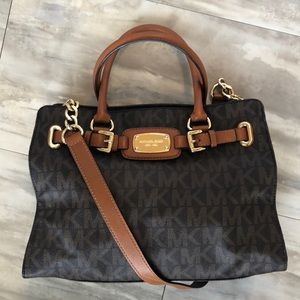 Michael Kors Brown Signature Satchel